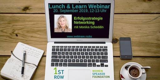 """Live-Webinar """"Erfolgsstrategie Networking"""" mit Monika Scheddin"""