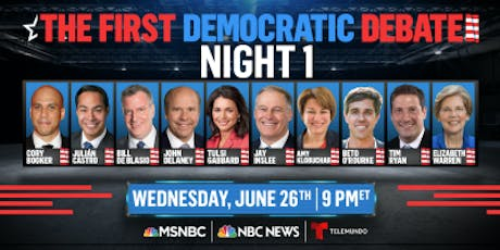 The First (of infinity) Democratic Primary Debate! tickets