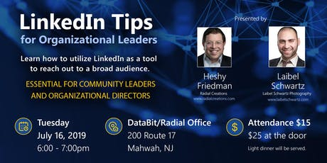 LinkedIn Tips for Organizations Leaders tickets