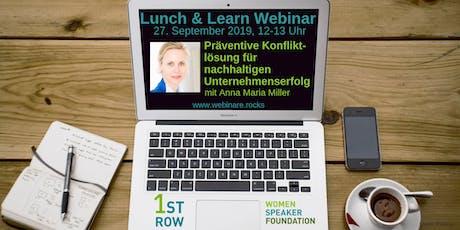 """Live-Webinar """"Präventive Konfliktlösung"""" mit Anna Maria Miller Tickets"""