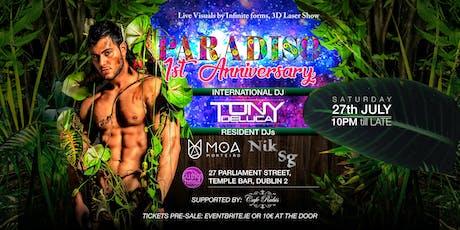 Paradiso - 1st Anniversary tickets