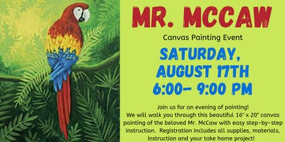 Mr. McCaw Canvas Painting Event