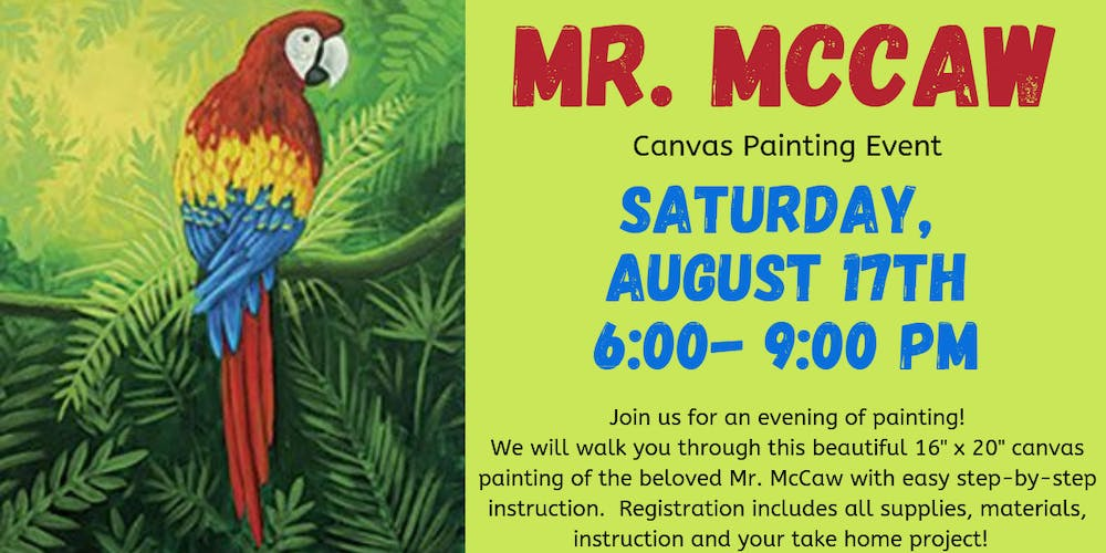 Mr  McCaw Canvas Painting Event