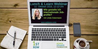 "Live-Webinar \""Internationale Jobprofile\"" mit Linda Ostermann"