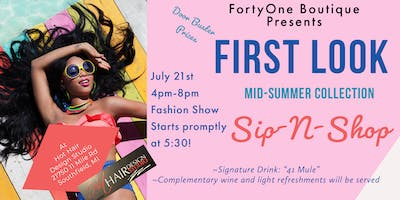FortyOne Boutique's First Look Mid Summer Collection Sip & Shop