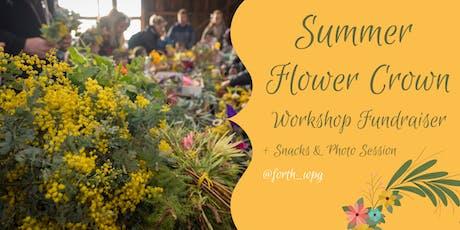 Summer Flower Crown Workshop Fundraiser  tickets