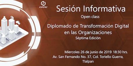 Sesión informativa Diplomado de Transformación Digital en las Organizaciones entradas