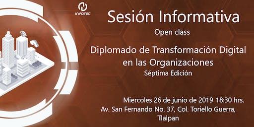 Sesión informativa Diplomado de Transformación Digital en las Organizaciones