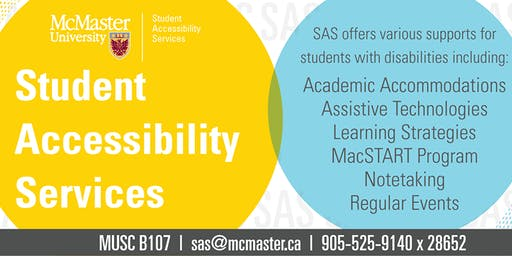 SAS 101: Introduction to McMaster and Student Accessibility Services (SAS)