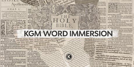 KGM Word Immersion tickets