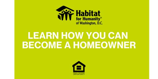 DC Habitat Homebuyer Information Session
