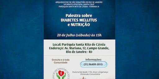 Palestra sobre DIABETES MELLITUS e NUTRIÇÃO