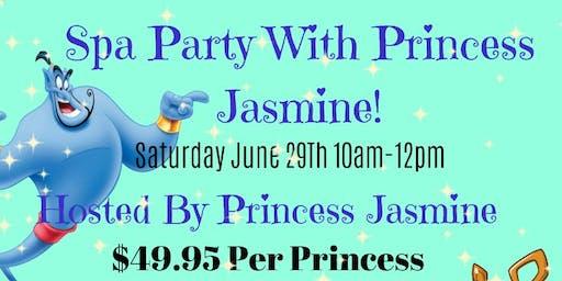 Spa Party with Princess Jasmine