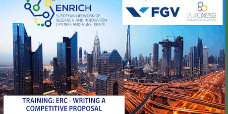 TRAINING: ERC - WRITING A COMPETITIVE PROPOSAL (Rio de Janeiro) ingressos