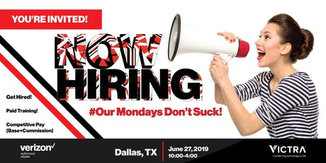 June 27th Hiring/Live Recruiting Event for Victra (HIRING ON THE SPOT) tickets