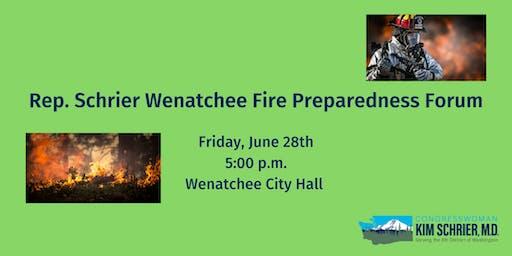 Rep. Schrier Wenatchee Fire Preparedness Forum