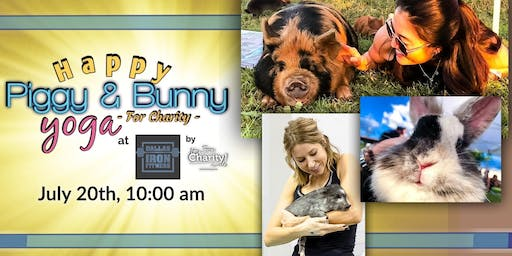 Happy Piggy & Bunny Yoga-For Charity at Dallas Iron Fitness