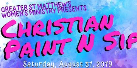 Christian Paint & Sip tickets