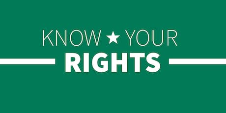 Know Your Rights Workshop: Immigrants tickets