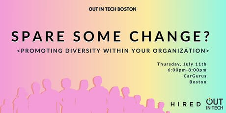 Out in Tech Boston | Spare Some Change?  tickets