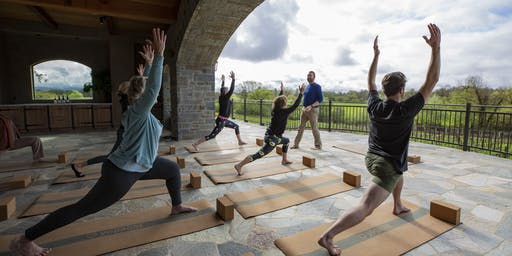 Join Bricoleur Vineyards for Vino & Vinyasa on Friday evenings