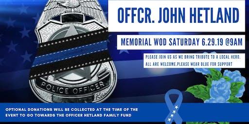 HERO WOD For Fallen Officer John Hetland