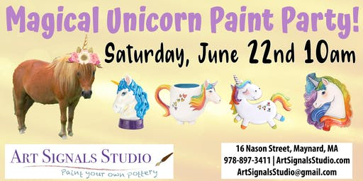 Magical Unicorn Paint Party