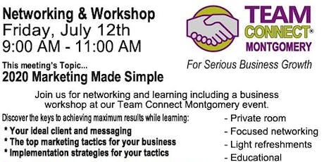 Networking and Workshop tickets