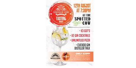 UNIQUE GIN FESTIVAL-GIN TASTING  WITH CUCKOO GIN tickets