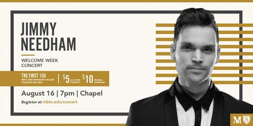 Welcome Week Concert with Jimmy Needham