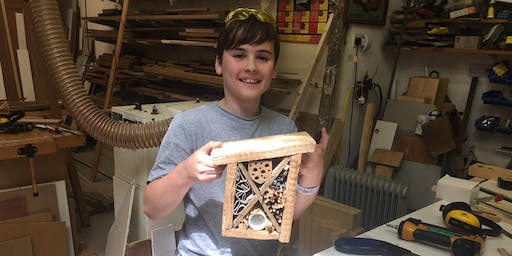 Thursday 22nd August 10am-12.30pm, Parent and child - Build your own insect house, 8+