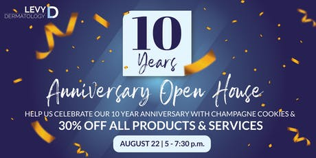 10 Year Anniversary Open House   tickets
