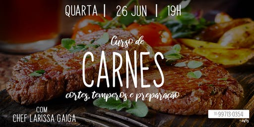 Curso de Carnes - Com Chef Larissa Gonçalves