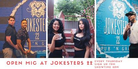 Open Mic at Jokesters 22 tickets