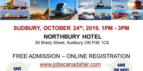Sudbury Transportation Job Fair – October 24th, 2019 tickets