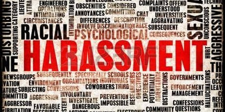 Harassment Avoidance Training Webinar - July 17, 2019: 10 a.m. - Noon tickets