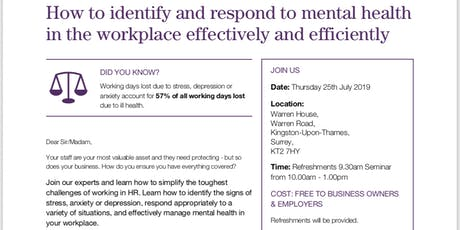 Employment Law, HR and Health & Safety Seminar tickets