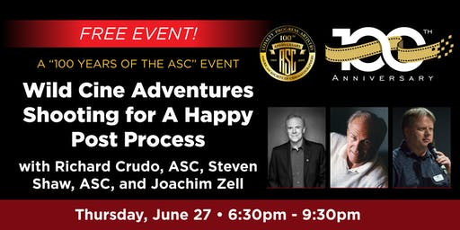 "A ""100 YEARS OF THE ASC"" Event - Wild Cine Adventures"