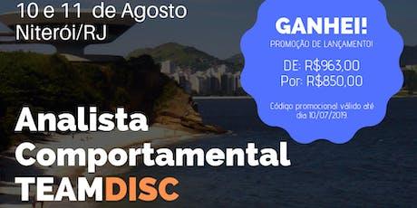 Formação Analista Comportamental TEAMDISC Profiler - Niterói/RJ bilhetes