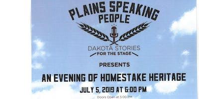 Plains Speaking People brings Homestake Stories, Hank Harris to Opera House Stage
