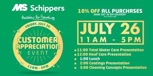 MS Schippers Customer Appreciation Day