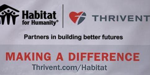 Thrivent Member Night at the Habitat Faith Build