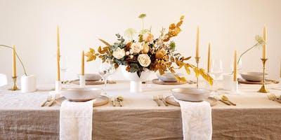 Harvest Russet + Oak Centerpiece Floral Design Workshop With Eve Floral Co.