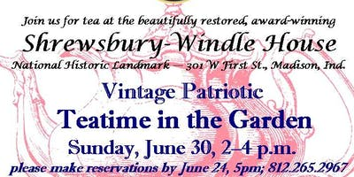 Vintage Patriotic Teatime in the Shrewsbury-Windle Garden