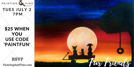 "Paint Night ""Fur Friends"" - No Experience Necessary - All Supplies Included"