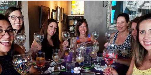 Wine Glass Painting class at Red Lobster 7/9 @6:30 pm