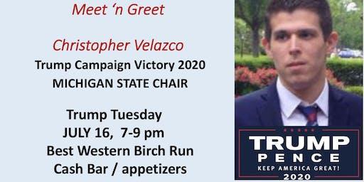 Meet 'n Greet Michigan's Trump Victory 2020 Director CHRIS VELAZKO!