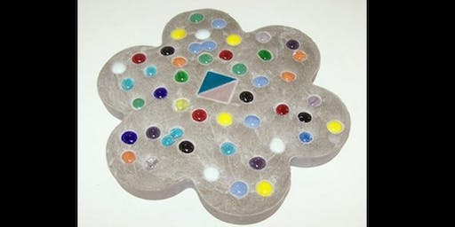 Make Your Own Stepping Stone Glass Mosaic - Saturday, August 3 at 1:00pm