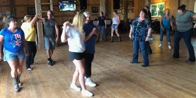 Line Dancing on the Farm!