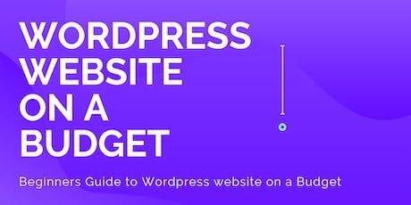 Wordpress website on a Budget tickets